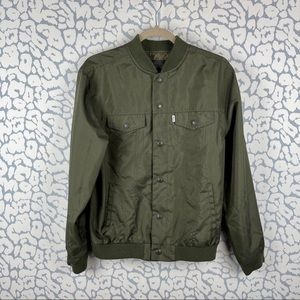 Levi's olive Bomber Jacket nylon exterior
